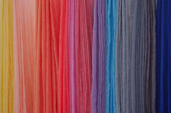 Hand dyed scarves at a local festival Royalty Free Stock Photos