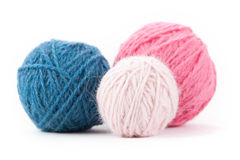 Hand Dyed Yarn Balls Stock Image