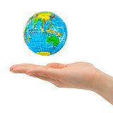 Hand and Earth Stock Photo