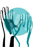 Hand and earth Royalty Free Stock Photo