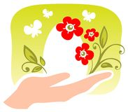 Hand with easter egg Royalty Free Stock Image