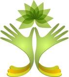 Hand, ecologie, teken, palm royalty-vrije illustratie
