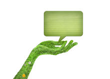 Hand, ecology symbol concept Stock Image