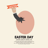 Hand Through An Egg Easter Day Concept Royalty Free Stock Images