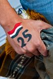 Hand of Egypitian revolution Royalty Free Stock Images