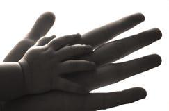 Hand in einer Hand Stockbilder