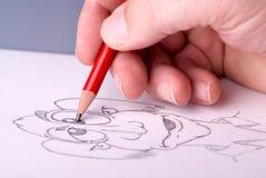 Hand einer Mannzeichnung Stockfotos