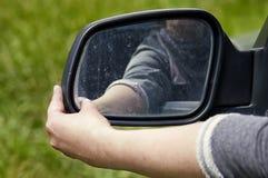Hand eines Fahrers Lizenzfreies Stockbild