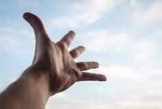 Hand eines Mannes. Stockbild