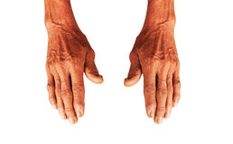 Hand of elderly man Royalty Free Stock Photo