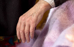 Hand of an elderly man Stock Images