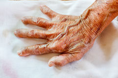 Hand of elderly woman Stock Photo