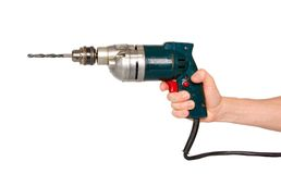 Hand with electric drill. Stock Images