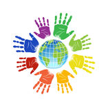 Hand Emblem Stock Images