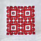 Hand embroidered tablecloth with traditional ethnic motifs royalty free stock images