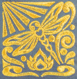 Hand embroidery pattern Royalty Free Stock Image