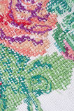 Hand embroidery pattern Royalty Free Stock Photo