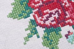 Hand embroidery pattern Stock Photo