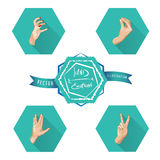 Hand emotions. Royalty Free Stock Image