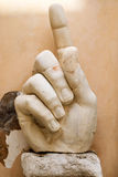 Hand of the emperor Constantine the Great, Rome Royalty Free Stock Images