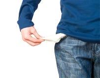 Hand and empty pocket, Stock Photo