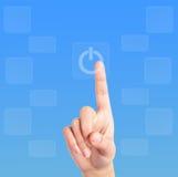 Hand en computer Stock Fotografie