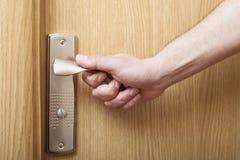 Hand en deur. royalty-vrije stock fotografie