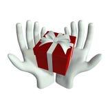 Hand en Gift Stock Foto