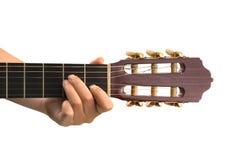 Hand en gitaar Stock Foto