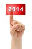 Hand en knoop 2014 Stock Foto's