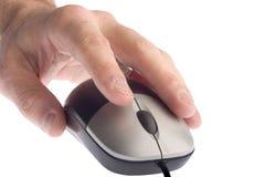 Hand en muis royalty-vrije stock afbeeldingen