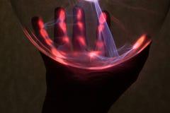 Hand en plasma royalty-vrije stock afbeeldingen
