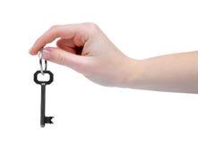 Hand en sleutel Royalty-vrije Stock Foto's