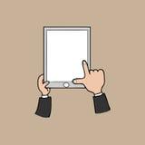 Hand en tablet Royalty-vrije Stock Foto