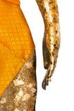 Hand en taille van de gestalte van Boedha stock afbeeldingen