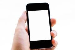 Hand en telefoon royalty-vrije stock foto