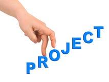 Hand en tredenProject Stock Afbeelding
