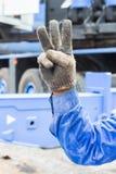 Hand en vingerteken Stock Foto's