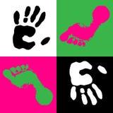 Hand en voet Royalty-vrije Stock Fotografie
