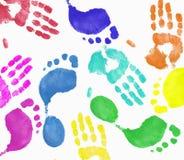 Hand en voetafdrukmontering Royalty-vrije Stock Afbeeldingen