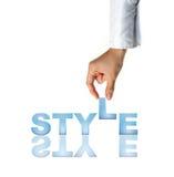 Hand en woordStijl stock fotografie
