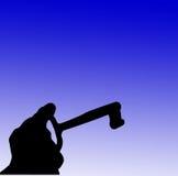 Hand en zeer belangrijk silhouet Stock Foto's