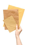 Hand with the envelope Royalty Free Stock Photo