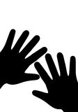 Hand.eps. Vector hand on a white background Royalty Free Stock Photography