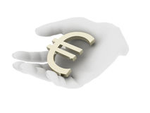Hand euro Royalty Free Stock Images