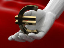 Hand with euro Royalty Free Stock Images