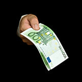 Hand with euro banknotes Royalty Free Stock Photo