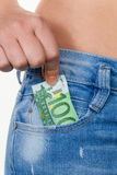 Hand with euro banknotes Royalty Free Stock Image