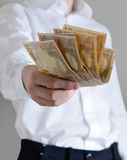 Hand with euro money Royalty Free Stock Photography
