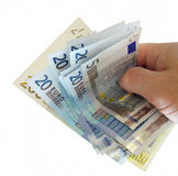 Hand with euros. Royalty Free Stock Photos